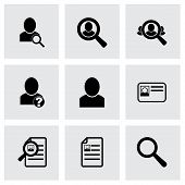 Vector people search icon set