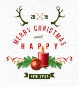 Christmas 2015 background with type design