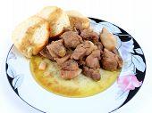 foto of bay leaf  - Pork cooked stewed with - JPG