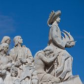 stock photo of conquistadors  - The Monument to the Discoveries in Lisbon - JPG