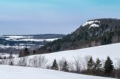 stock photo of bluff  - The Bluffs at Sussex NB in the winter - JPG