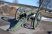 pic of cannon  - Antique cannon in Lappeenranta at sunny spring day Finland - JPG