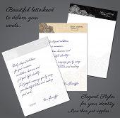 picture of letterhead  - Elegant letterhead concept - JPG