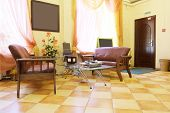 picture of beauty salon interior  - Waiting room of the beauty salon - JPG