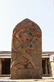 picture of hanuman  - A beautiful statue of Lord Hanuman captured at Lepakshi - JPG