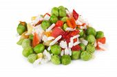 pic of mixture  - Heap of vegetable mixture isolated on white background - JPG