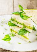 Постер, плакат: Toast with avocado paste and watercress
