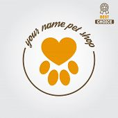 picture of monochromatic  - Logo for pet shop or veterinary clinic - JPG