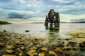 pic of troll  - Icelandic legend says a troll was petrified in the sun to form this unusual rock - JPG