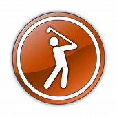 image of foursome  - Image Icon Button Pictogram with Golfing symbol - JPG