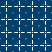 pic of indigo  - Indigo and white seamless floral delft pattern - JPG