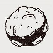 pic of meteors  - Doodle Meteor - JPG