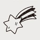 stock photo of meteors  - Doodle Meteor - JPG