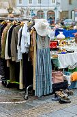 stock photo of flea  - booth at a flea market for retail icon - JPG