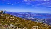 View from Mt Wellington Hobart Australia
