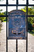 image of wrought iron  - Letter box wrought iron with decorations  - JPG