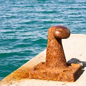 stock photo of bollard  - Harbor equipment - JPG