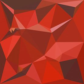 image of auburn  - Low polygon style illustration of auburn red abstract geometric background - JPG