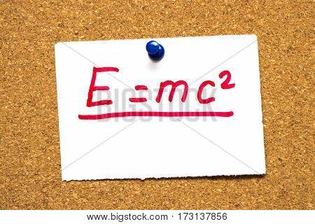 poster of emc2 Mass energy equivalence.Einstein's formula. The mc2