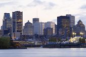 Montreal, Canada At Sunset From Ile Ste-Helene