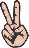 image of peace-sign  - Hand Gesture - JPG