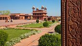 foto of khas  - Panoramic view of Fatehpur Sikri with Diwan - JPG