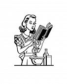 Retro Lady Cook - ClipArt
