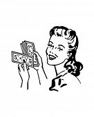stock photo of homemaker  - Money Gal  - JPG