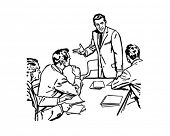 Business Meeting - Retro Clip Art