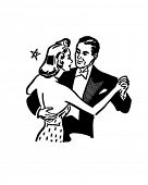 Dance Couple - Retro Clip Art