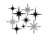 Retro estrelas 7 - Retro Clip-Art