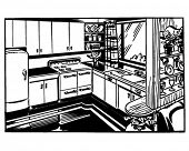 Retro Kitchen - Clip Art