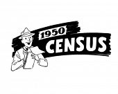 1950 Census - Government Worker - Retro Clip Art