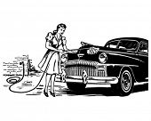 Hand Car Wash - Retro Clip Art