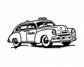 Taxi - Retro illustraties