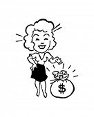 Rich Gal - Retro Clip Art