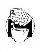 RX Slips And Mortar - Retro Clipart Illustration