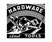 Hardware And Tools - Retro Ad Art Banner