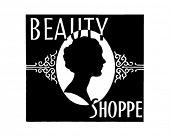 Beauty Shoppe - Retro Ad Art Banner