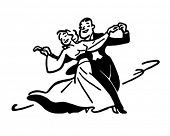 Dance Couple 2 - Retro Ad Art Illustration