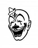 Clown Face - Retro Ad Art Illustration