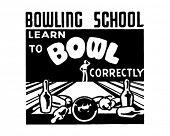 Lernen Sie, Bowl - Retro Art-Werbebanner