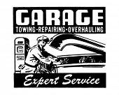 Garage - Expert Service - Retro Ad Art Banner