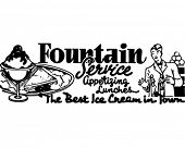 Fountain Service 3 - Retro Ad Art Banner