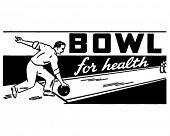 Schüssel für Gesundheit 2 - Retro Art-Werbebanner