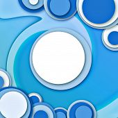 Abstract Circular Windows 2 Blue