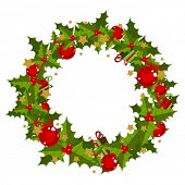 stock photo of christmas wreath  - christmas wreath - JPG