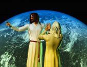 Постер, плакат: Христа на фоне неба