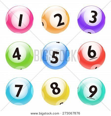 Vector Bingo Lottery Colorful Number