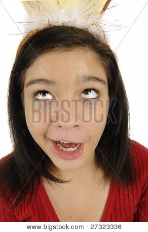 Picture or Photo of A attractive young teen making a goofy face and ...
